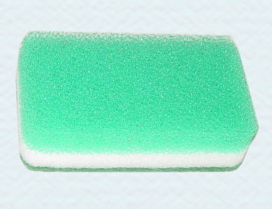 キッチンスポンジ。水切れ・泡切れにすぐれ、乾燥が早く衛生的です。固型食器洗い(新ニューキラー)と相性抜群!
